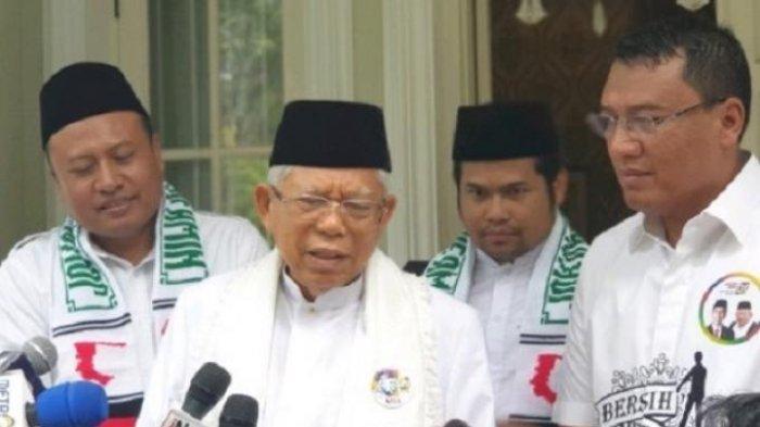 Soal Bagi-bagi Kursi Menteri di Kalangan NU Maruf Amin : Saya yakin Pak Jokowi Membalas Keringat