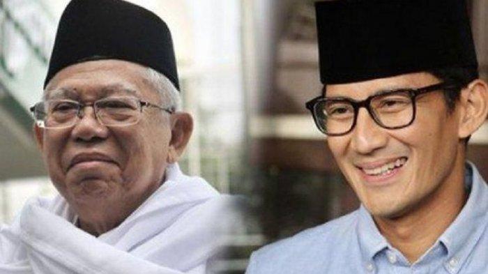 Begini Bedanya Pernyataan Maruf Amin dan Sandiaga Uno soal Rencana Rekonsiliasi Paslon 01 dan 02