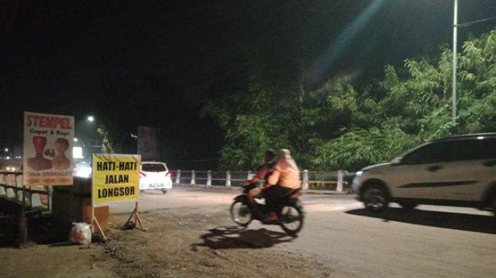 Masih Bergelombang, Jalan Gajah Mada Jelutung yang Ambles Telah Diperbaiki