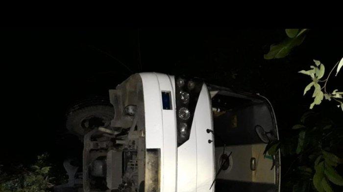 Mesin Mati di Penanjakan, Bus Kontingen Pramuka Kerinci Masuk Jurang