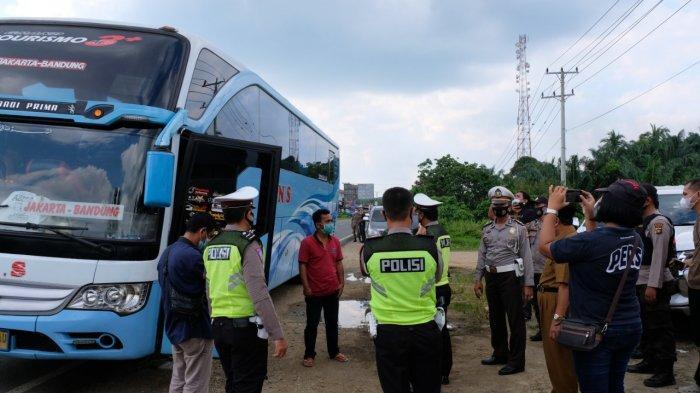 Masuk Tanpa Surat Izin Resmi, Dua Bus dari Sumbar Dipaksa Putar Balik di Bungo