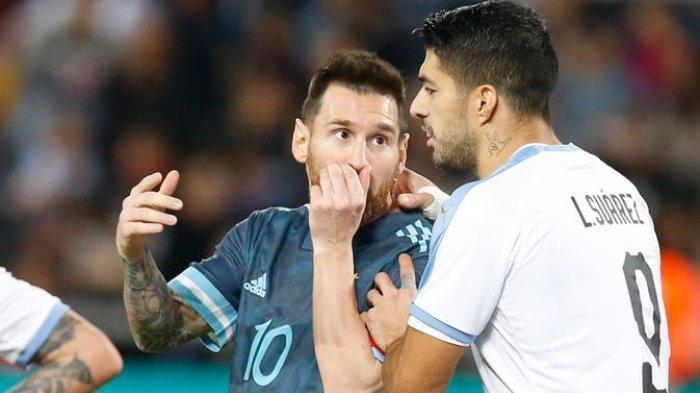 LINK NONTON Argentina vs Uruguay di Kualifikasi Piala Dunia 2022, Menanti Duel Messi dan Suarez