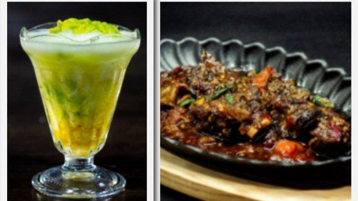 Deretan menu favorit di Pitek Obong, dari Iga Oseng Black Paper hingga minuman hangat dan minuman segar.