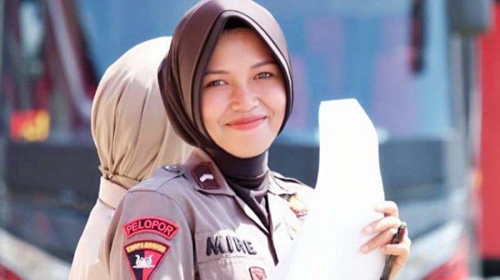 Kisah Polwan Cantik Jambi Miranti Silaban, Awalnya Menolak, Dua Bulan Jatuh Cinta dengan Brimob