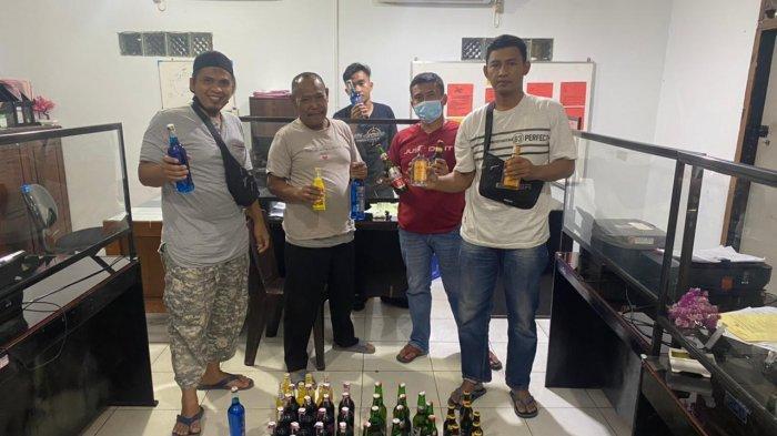 Puluhan Botol Miras dan Pemilik Diamankan Polres Merangin dari Operasi Pekat Siginjai I