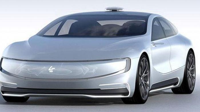 Prototipe mobil listrik LeEco asal China yang dinamai LeSEE.