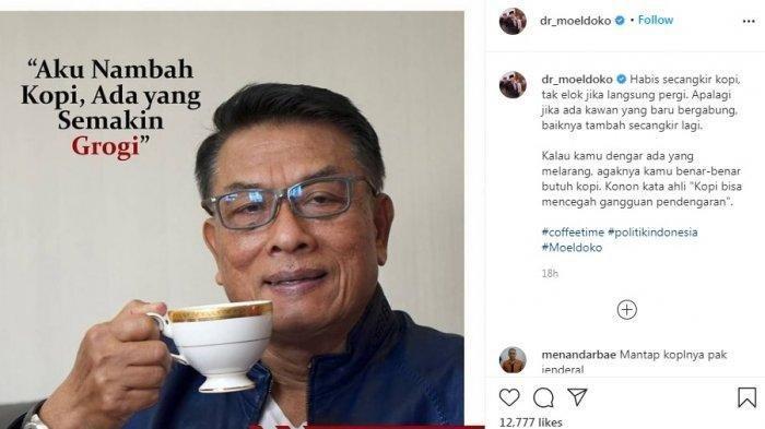 Muncul di Media Sosial, Moeldoko Olahraga Pagi, Mampir ke Tukang Sayur, Warganet: Pak Ketum