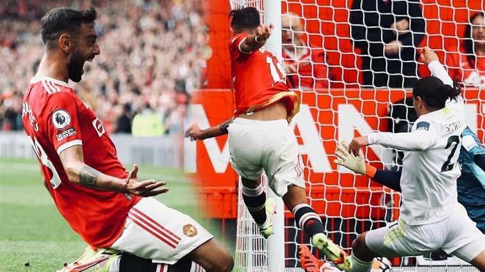 SKOR 4-1 Man United Vs Leeds Sementara, Gol Cepat Skuad Setan Merah, Bruno Fernandes Menggila