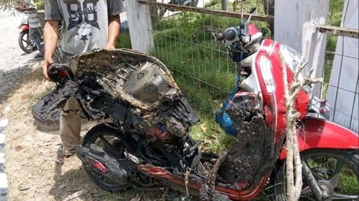 BREAKING NEWS: Selepas Isi Minyak di POM Bensin Pembengis, Motor Matic Terbakar