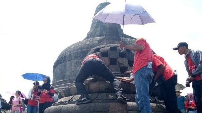 Jangan Sentuh Patung Buddha Dalam Stupa Candi Borobudur, Ini Bahayanya