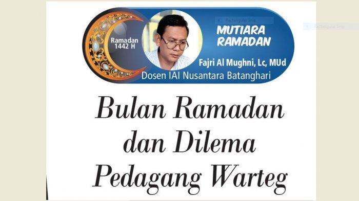 Mutiara Ramadan - Bulan Ramadan dan Dilema Pedagang Warteg