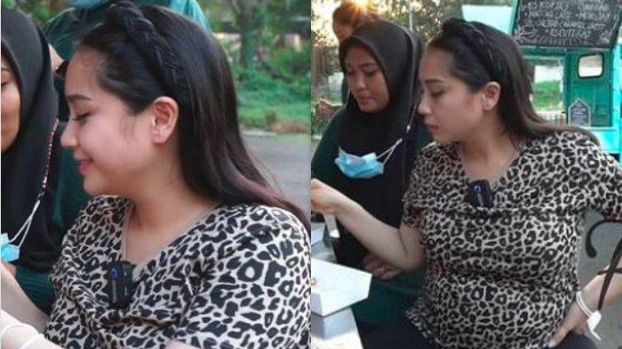 Pakai Kaos Rp 100 Ribuan, Penampilan Nagita Slavina Saat makan di Pinggir Jalan Bikin Warganet Heboh