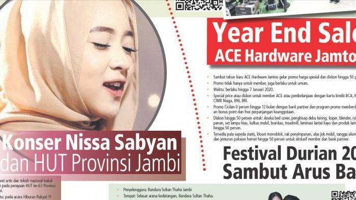 Jadwal Nissa Sabyan Konser di Jambi, Jangan Lupa Meriahkan HUT Ke-63 Provinsi Jambi