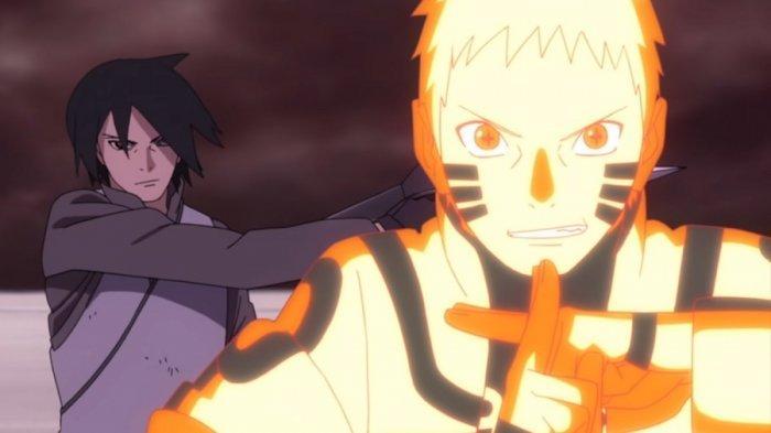 Naruto dan Sasuke dipertarungan terakhir lawan Isshiki