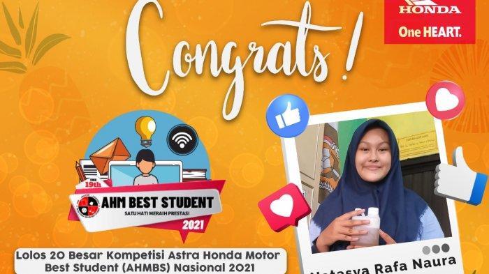 Siswi SMAN 3 Jambi Masuk 20 Besar di Kompetisi Astra Honda Motor Best Student Nasional 2021