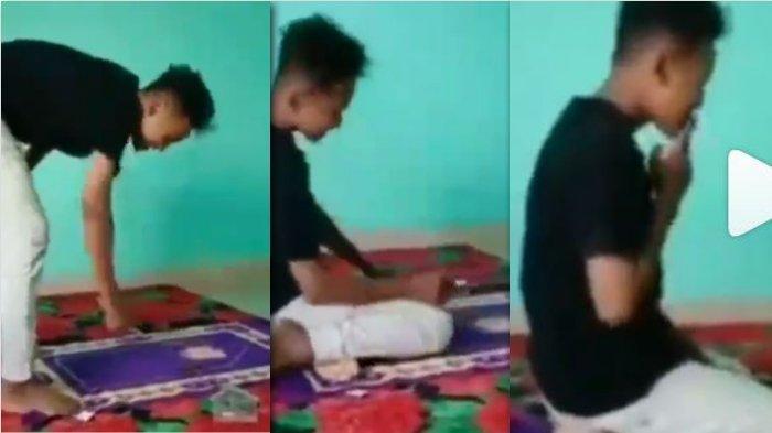 Nekat Salat Sambil Merokok hingga Viral Videonya, Aksi ABG Ini Banjir Kecaman: Astaghfirullah!