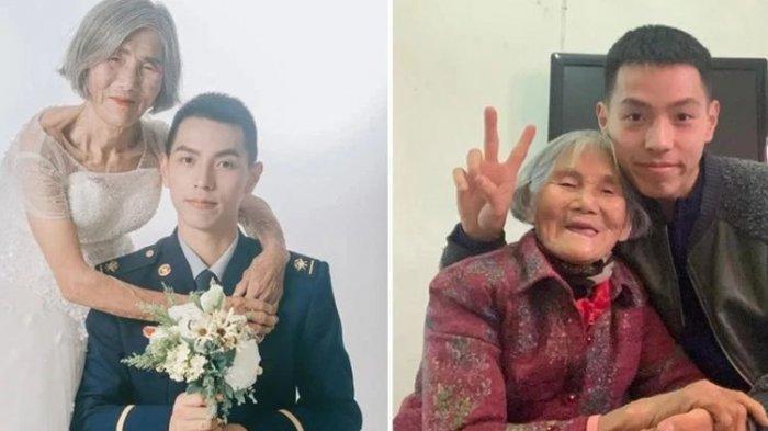 Kisah Haru Dibalik Foto Pernikahan Nenek 85 Tahun dengan Pemuda 24 Tahun
