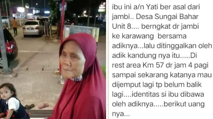 Viral Nenek Mengaku Warga Sungai Bahar Jambi Telantar di Karawang, Warganet Justru Banyak Ragu