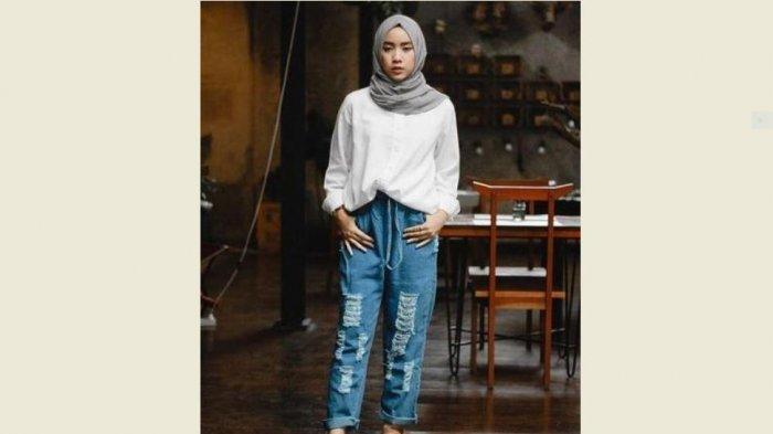 Tren Hijab 2021 Tutorial Hijab Pashmina Untuk Hang Out Dan Kantoran Simple Dan Praktis Halaman 4 Tribun Jambi
