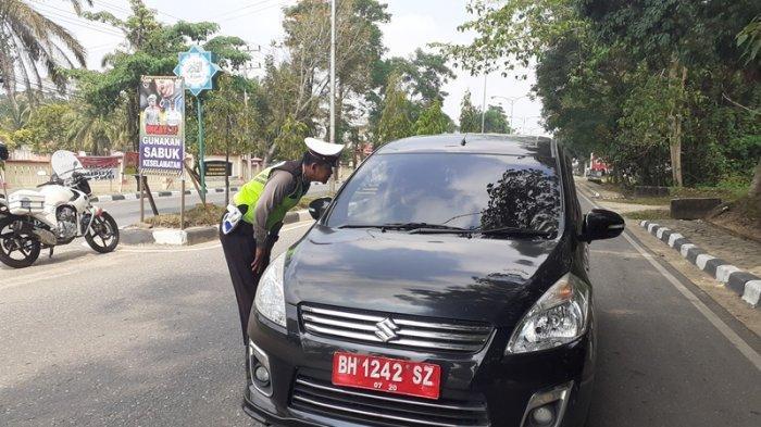 Ops Patuh Polres Sarolangun, Ada Kendaraan Dinas yang Mati Pajak, Ada yang Diganti dengan Plat Hitam