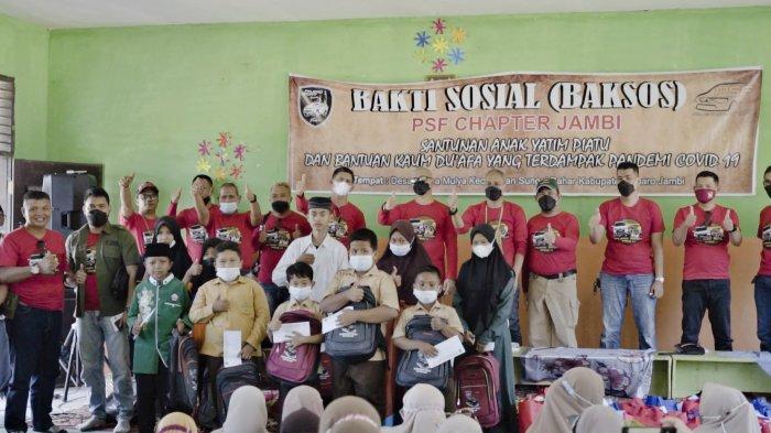 Pajero Sport Family Chapter Jambi Baksos, Bantu Warga di Sungai Bahar Sumur Bor & Sembako
