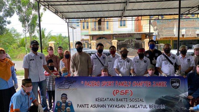 Pajero Sport Family (PSF) Jambi Chapter, IKut Berbagi dan Peduli Sesama di Bulan Ramadan