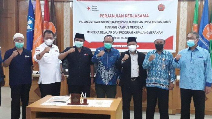 Palang Merah Indonesia (PMI) Provinsi Jambi jalin kerjasama dengan Universitas Jambi (UNJA).