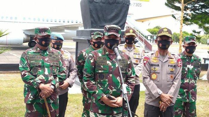 Panglima TNI Marsekal TNI Hadi Tjahjanto, bersama Kapolri Jendral Pol. Idham Azis