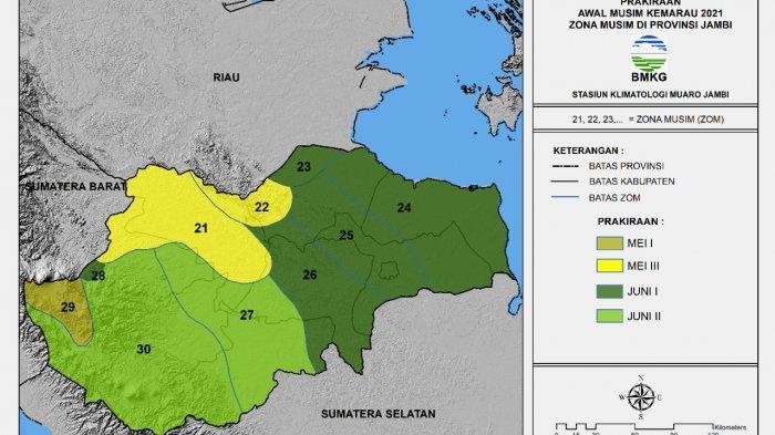Provinsi Jambi Memasuki Kemarau Akhir Mei, Tiga Kabupaten Ini Alamai Musim Kemarau Lebih Cepat