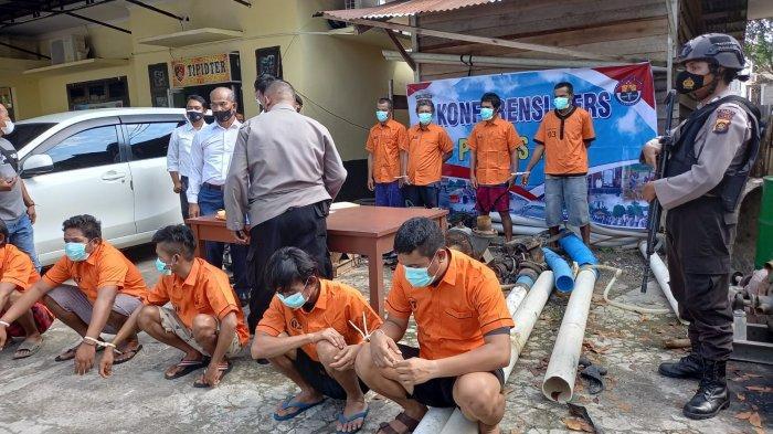 18 Pelaku PETI Diamankan Polres Tebo, Pemilik hingga Mesin Dompeng Terjaring Razia