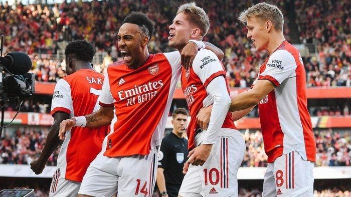 Para pemain Arsenal musim ini bakal berhadapan dengan Brighton di Liga Inggris siaran langsung Mola TV 2 Oktober 2021.