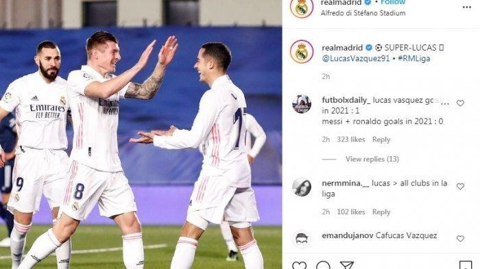 HASIL LIGA SPANYOL, Real Madrid Ada di Puncak Klasemen Sementara, Usai Kalahkan Celta Vigo 2-0