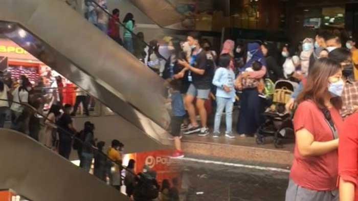 VIDEO Pengunjung Mal Panik dan Berhamburan saat Gempa Malang Terjadi, Bergiliran Menuju Akses Keluar