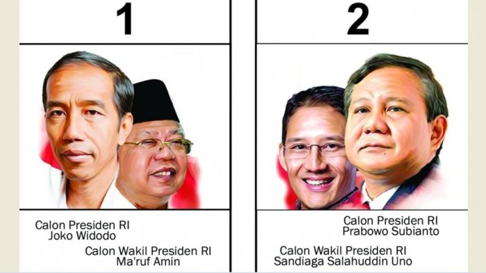 FOTO-FOTO Momen Tertawa Bareng di Atas Panggung, Jokowi-Ma'ruf dan Prabowo-Sandiaga