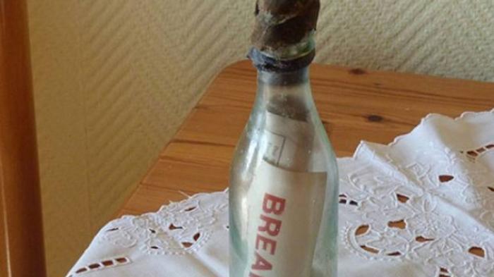 FOTO: Pesan di Dalam Botol Tertua Ditemukan Pasangan ini, Isinya Merupakan Suatu Mukjizat