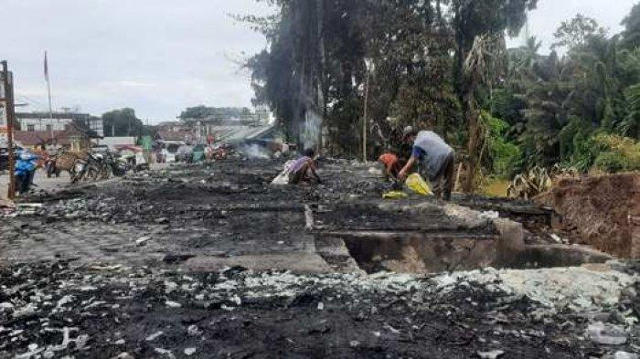 Pascakebakaran, Nasib Pedagang di Pasar Bangko Tergantung Bisa Pakai Lokasi Lama atau Tidak