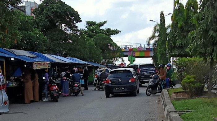 Meski Dilarang, Pasar Bedug Dadakan Tetap Menjamur di Kota Bangko Merangin