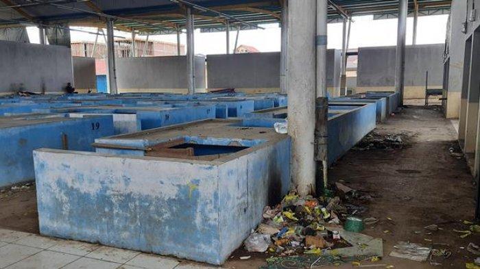 Kondisi Pasar Rakyat Type A, Pematang Kandis, Kabupaten Merangin yang dibangun dengan nilai sekitar Rp 7 miliar.