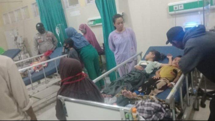 Anak-anak korban Bakso bakar yang diduga menyebabkan keracunan di Muarojambi