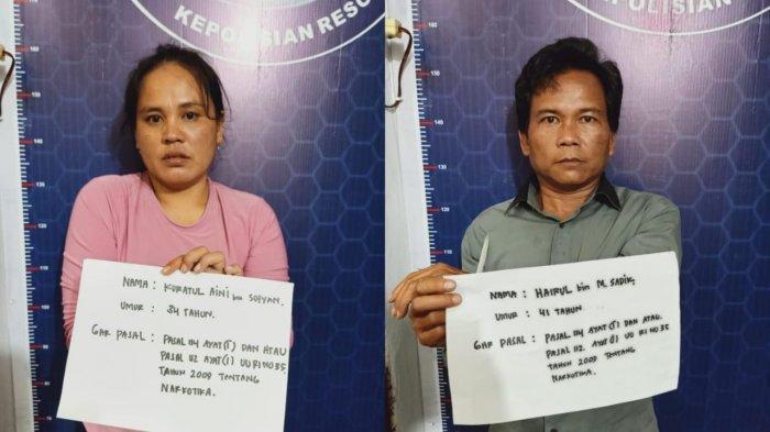 Pasutri Pemilik Sabu Ditangkap Satresnarkoba Polres Tebo di Sebuah Warung Bakso