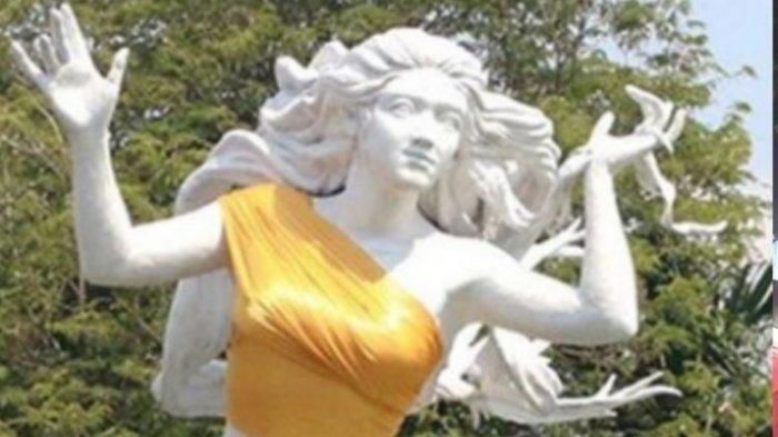 Viral Patung Ancol Jakarta Pakai Kemben Warna Emas Menutupi Bagian Sensitif, Ternyata Ini Alasannya