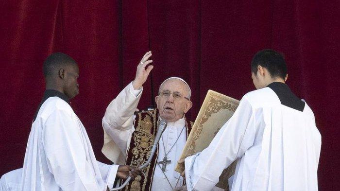 Paus Fransiskus Minta Para Politisi Alihkan Dana Senjata untuk Penelitian Cegah Pandemi Dimasa Depan
