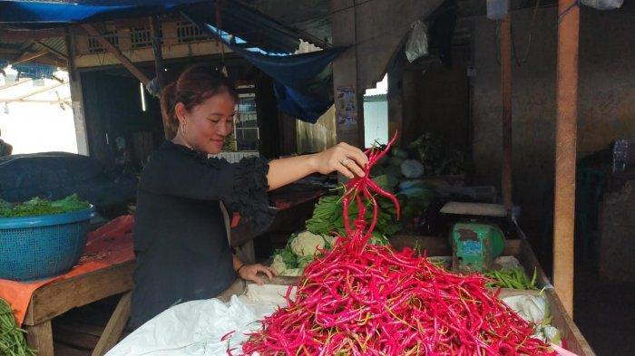 Harga Cabai Merah di Pasar Keramat Tinggi Muara Bulian Meroket, Capai Rp 80 Ribu Per Kilogram