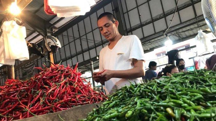 Pedagang cabai di Pasar Angso Duo Jambi.