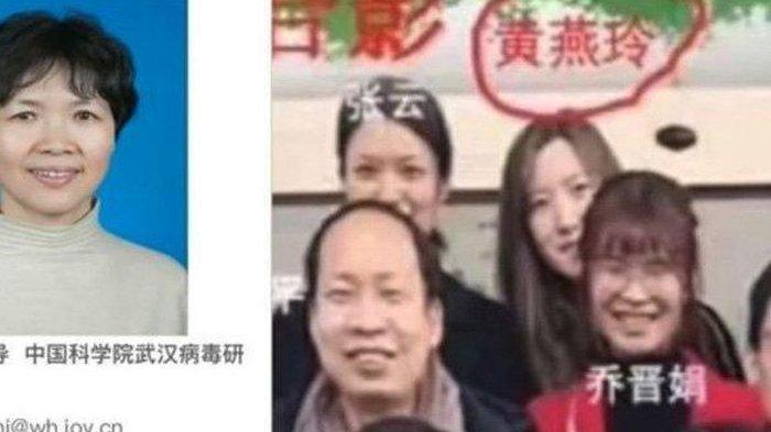 Pekerja lab Wuhan, Huang Yanling (kiri atas dan di bawah lingkaran merah, foto kanan) berfoto sebelum dia menghilang.