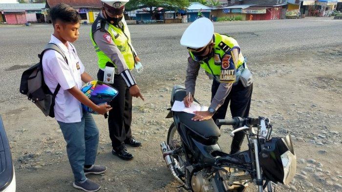 Gara-gara Modifikasi Motor, Seorang Pelajar di Tebo Terjaring Razia Polisi