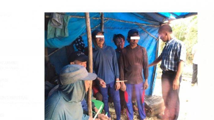 FOTO-FOTO Lokasi Penggerebekan Penambang Liar di Desa Sungai Kapas