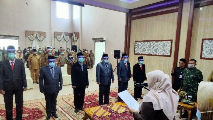 Pelantikan 8 pejabat Eselon II dilakukan langsung Bupati Muarojambi Masnah Busro