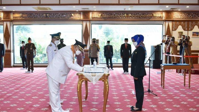 Resmi dilantik, Mashuri dan Aprianto Minta Dukungan Masyarakat