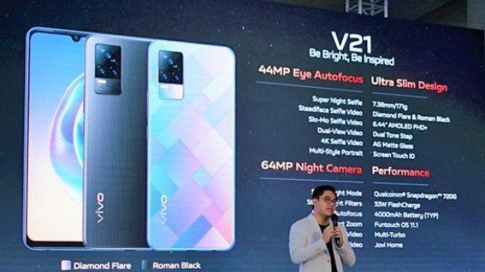Spesifikasi Lengkap Vivo V21 Ultra Slim Design Pakai Kamera Selfie 44 Mp hingga Baterai 4000 mAh